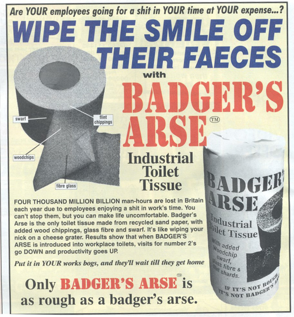 Badger S Arse Toilet Paper